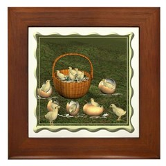 A Dozen Eggs Framed Tile