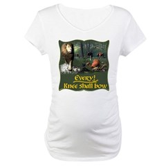 Every Knee Shall Bow Maternity T-Shirt