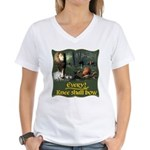 Every Knee Shall Bow Women's V-Neck T-Shirt