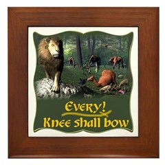 Every Knee Shall Bow Framed Tile