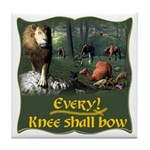 Every Knee Shall Bow Tile Coaster