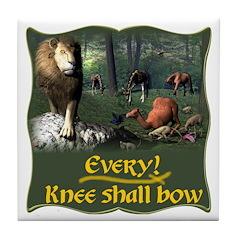 Every Knee Shall Bow Tile Coaster
