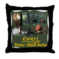 Every Knee Shall Bow Throw Pillow