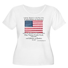 Pledge of Allegiance Women's Plus Size Tee