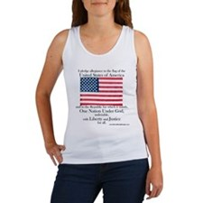Pledge of Allegiance U.S. Flag Women's Tank Top