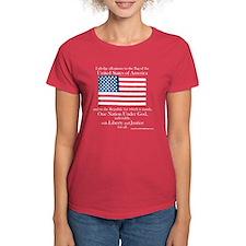 Pledge of Allegiance U.S. Flag Womens Dark T-Shirt