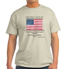 Pledge of Allegiance U.S. Flag T-Shirt