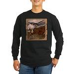 Flight of the Gyr Falcon Long Sleeve Dark T-Shirt