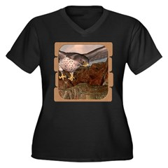 Flight of the Gyr Falcon Women's Plus Size V-Neck