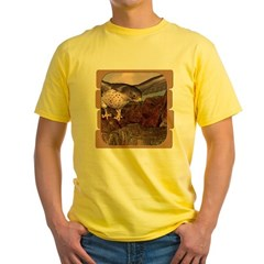 Flight of the Gyr Falcon Yellow T-Shirt