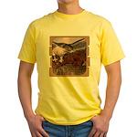 Flight of the Gyr Falcon Yellow T-Shirt