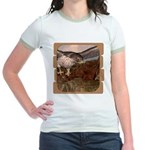 Flight of the Gyr Falcon Jr. Ringer T-Shirt