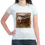 Flight of the Gyr Falcon Jr. Ringer T-Shirt