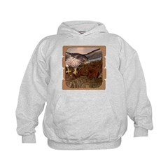 Flight of the Gyr Falcon Hoodie