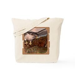 Flight of the Gyr Falcon Tote Bag