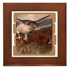 Flight of the Gyr Falcon Framed Tile