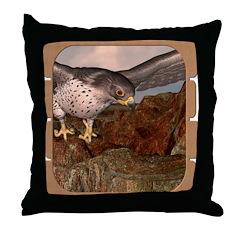 Flight of the Gyr Falcon Throw Pillow