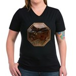 Flight of the Eagle Women's V-Neck Dark T-Shirt
