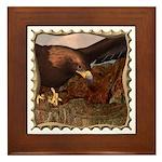 Flight of the Eagle Close Up Framed Tile
