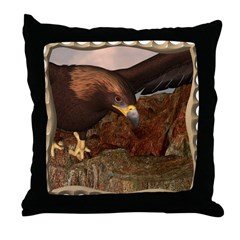 Flight of the Eagle Close Up Throw Pillow