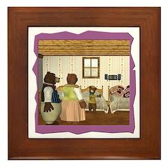 Goldilocks & The 3 Bears Framed Tile