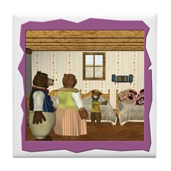 Goldilocks & The 3 Bears Tile Coaster