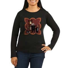 Hickory, Dickory, Dock Women's Long Sleeve Dark T-