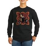 Hickory, Dickory, Dock Long Sleeve Dark T-Shirt