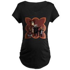 Hickory, Dickory, Dock Maternity Dark T-Shirt