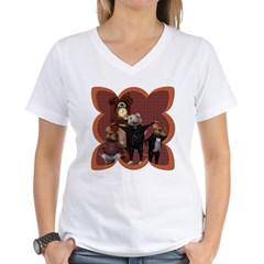 Hickory, Dickory, Dock Women's V-Neck T-Shirt