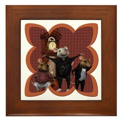Hickory, Dickory, Dock Framed Tile