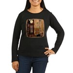 HDD Up the Clock! Women's Long Sleeve Dark T-Shirt