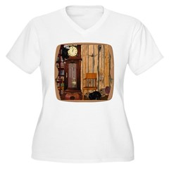 HDD Up the Clock! Women's Plus Size V-Neck T-Shirt