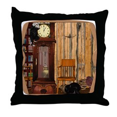 HDD Up the Clock! Throw Pillow