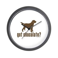 got chocolate lab? Wall Clock