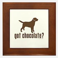 got chocolate lab? Framed Tile