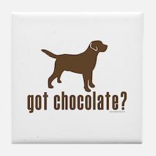 got chocolate lab? Tile Coaster