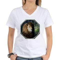 King of the Jungle Women's V-Neck T-Shirt