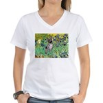 Irises-Am.Hairless T Women's V-Neck T-Shirt
