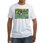 Irises-Am.Hairless T Fitted T-Shirt