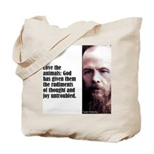 "Dostoevsky ""Animals"" Tote Bag"