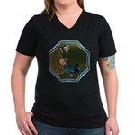 LBB - Asleep in the Hay! Women's V-Neck Dark T-Shi