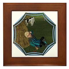 LBB - Asleep in the Hay! Framed Tile