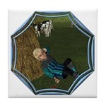 LBB - Asleep in the Hay! Tile Coaster