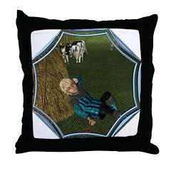 LBB - Asleep in the Hay! Throw Pillow