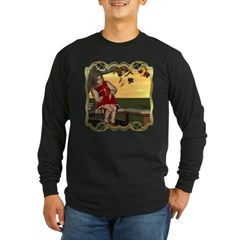 Little Miss Muffet Long Sleeve Dark T-Shirt