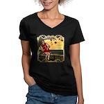 Little Miss Muffet Women's V-Neck Dark T-Shirt