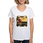 Little Miss Muffet Women's V-Neck T-Shirt