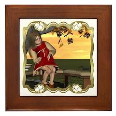 Little Miss Muffet Framed Tile