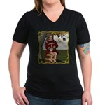 Little Miss Tucket Women's V-Neck Dark T-Shirt